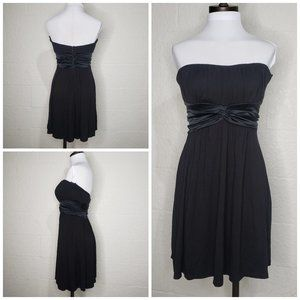 Bebe Black Strapless Ruched Chest Dress Size 6